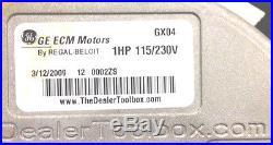 1HP or 3/4HP ECM blower Motor 115V or 230V Evergreen Genteq Air Handler, furnace
