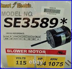 3/4 HP 3589 Furnace Blower Motor SE3589 Packard 43589 -115V-1075 RPM-Reversible