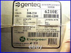 6210E Genteq Evergreen 1 HP 208-230 Volt Replacement X-13 Furnace Blower Motor