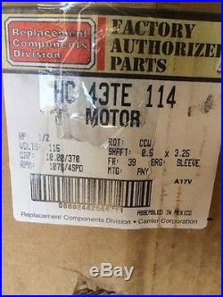 Carrier Bryant Payne 1/2 HP 115 Furnace BLOWER MOTOR HC43TE113