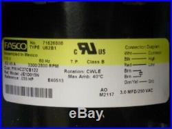 Carrier Bryant Payne HC27CB122 JE1D015N Furnace Draft Inducer Blower Motor Assy