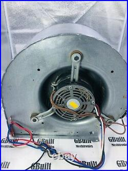 FURNACE FAN BLOWER ASSEMBLY GOOD MOTOR & CAPACITOR All WINDINGS TESTED 10 X 6