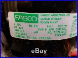 Fasco 7126-0411 79A5201 HP 1/3 RPM 1075 115V 60 Hz Furnace Blower Motor