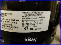 Fasco 7126-3199 37J2501 HP 1/3 RPM 1075 115V 60 Hz Furnace Blower Motor