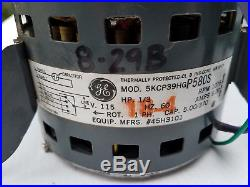 Furnace Blower Motor GE 5KCP39HG 1/3 HP 115Volt 1075/4SPD CPN45H3101