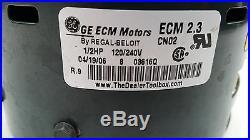 Furnace Blower Motor GE 5SME39HL0252 1/2 HP 120/240 Volt Stock No. 5462 ECM