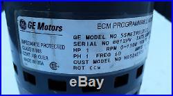 Furnace Blower Motor GE 5SME39SL0122 1 HP 120/240 Volt HD52AE120 ECM