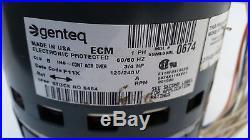 Furnace Blower Motor Genteq MOT11512 3/4 HP 120/240 Volt Stock No. 5464 ECM