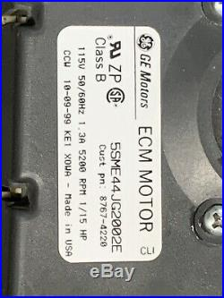 GE 5SME44JG2002E ECM Furnace Draft Inducer Motor 8767-4220 used + Control Board