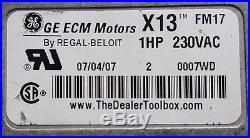 Ge Ecm X13 Furnace Blower Motor 5sme39sxl013a (0371)