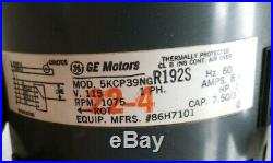 GE Motors 5KCP39NGR192S Furnace Blower Motor 1/2HP 1075RPM 115V 60Hz 1PH #64