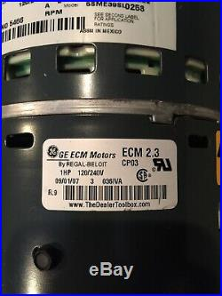 GE Trane 5SME39SL0258, D341314P35 ECM2.3, 1HP Furnace Blower Motor
