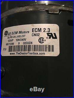 G. E. 1/2 HP ECM Furnace blower motor&controller 5SME39HL0252 TRANE(D341314P04)
