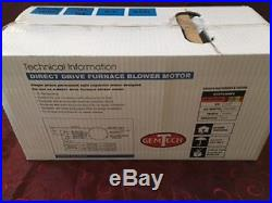 GemTech Model# GTE75-MSP2 Direct Drive Furnace Blower 1/5 3/4 HP NIB