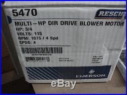 Motor, Blower, Furnace Motor, Multi Horse Power, 115vac, 4 Speeds
