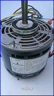 New furnace blower motor emerson k55hxtga 8796 1 6 thru 1 for Emerson ultratech variable speed motor