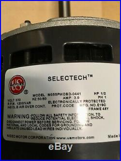 NEW. OEM Goodman-Amana 0131M00501S Furnace Blower Motor 1/2HP 230 Volts