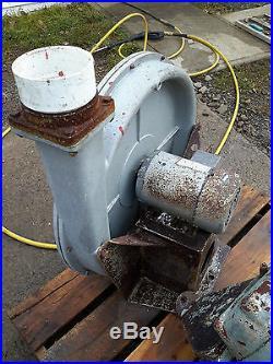 NORTH AMERICAN MFG TURBO BLOWER GG-7911 2HP MOTOR 150 CFM furnace forge glass