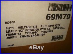 OEM Lennox Ducane Armstrong 1 HP 115v Furnace BLOWER MOTOR 69M79 69M7901
