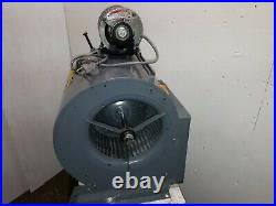 Oil Furnace Blower Motor & Fan Housing Assembly 1/4Hp Ac Motor Tested