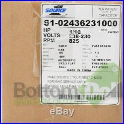 Source 1 S1-02436231000 1/10 HP 208-230 Volts 825 RPM Furnace Blower Motor