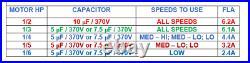 Trane Furnace Air Blower Motor 1/6 1/2 HP 115 Volt 1075 RPM 48Y Frame