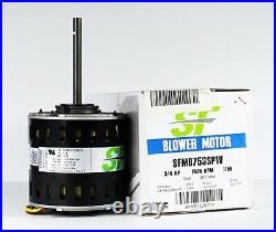 Trane Furnace Air Blower Motor 3/4 HP 115 Volts 1075 RPM 48Y Frame