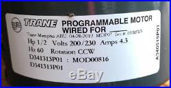 Trane MOD00816 D341313P01 Furnace Variable Speed Blower Motor 5SME39HL0902